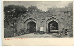 Vintage-Postcard-1925-Indien-India-DELHI-Cashmere-Gate