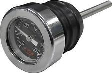 HardDrive Oil Dipstick 2 7/8 w/ Temp Gauge (Black) 00+ Harley Davidson T03-0098