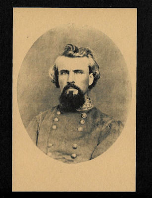 Gen Thomas Stonewall Jackson Confederate Photo Reprint On 100 Year Old Paper