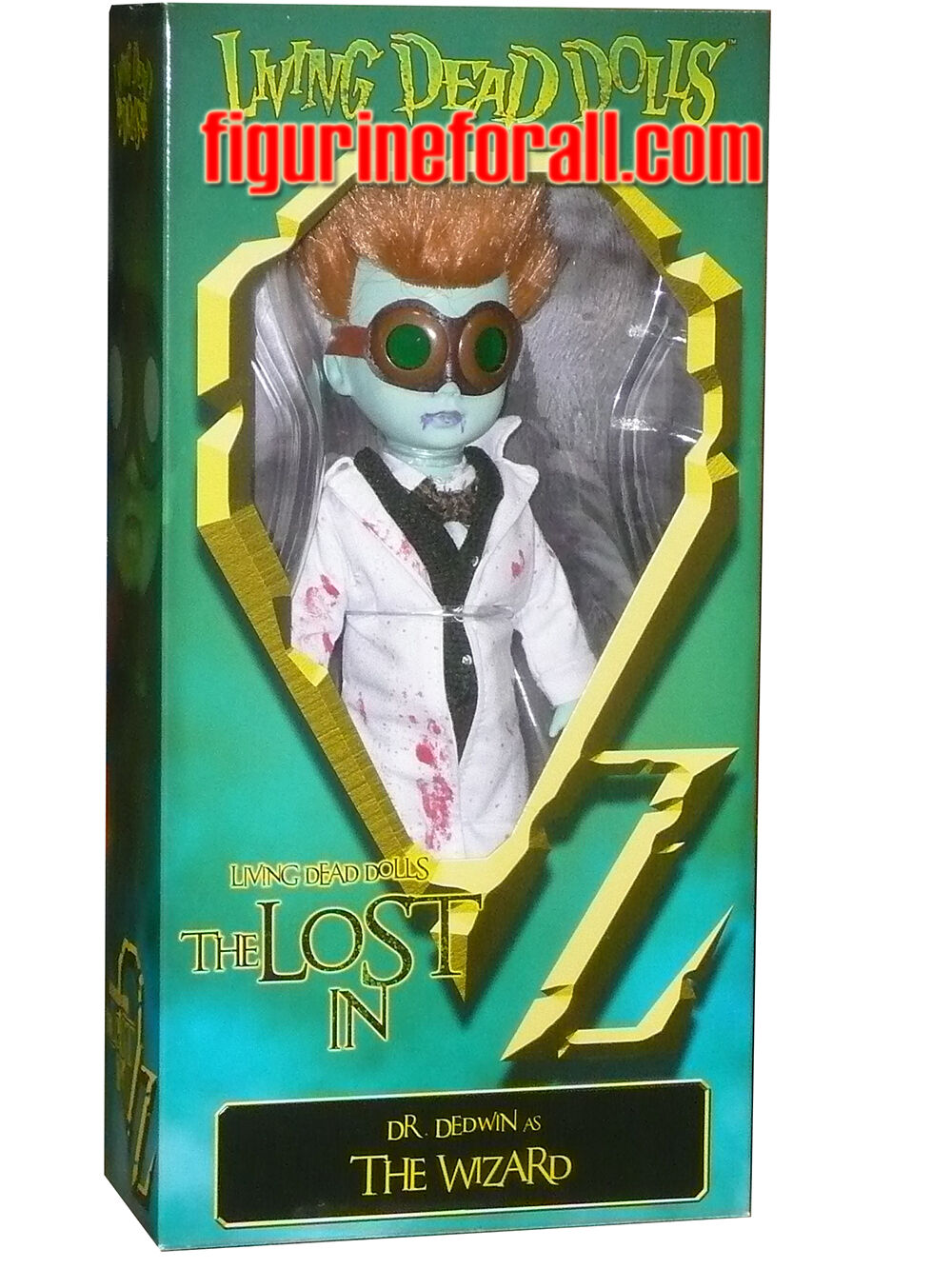 Living Dead Dolls LOST IN OZ EMERALD VARIANT DR. DEDWIN AS THE WIZARD 10   Mezco