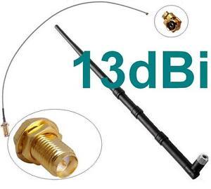 13dBi-Antenne-Adapter-Kabel-RP-SMA-u-FL-Wlan-WiFi-Speedport-Fritz-Box-Pigtail