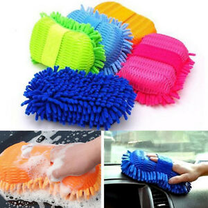 Microfiber-Chenille-Car-Vehicle-Care-Washing-Brush-Sponge-Pad-Cleaning-Tool-WH