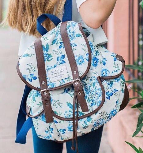 Sloane Ranger Vintage Floral Slouch Backpack So Pretty! SALE! 55/% OFF!