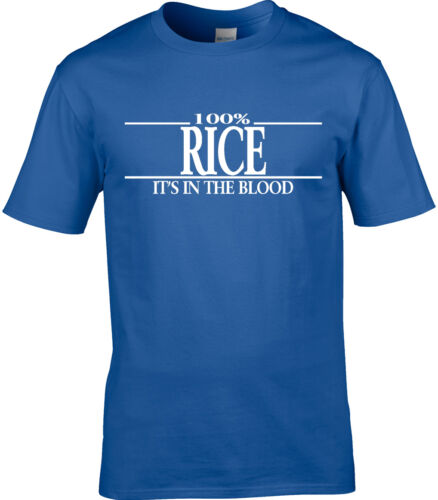 Rice Surname Mens T-Shirt 100/% Rice Gift Name Family Cool