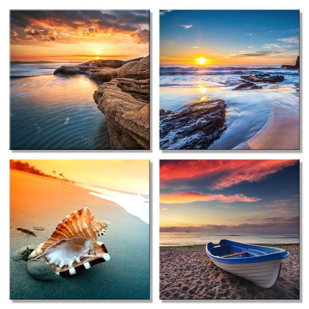 Canvas Wall Art Print Painting Pictures Home Room Decor Sea Beach Landscape 4