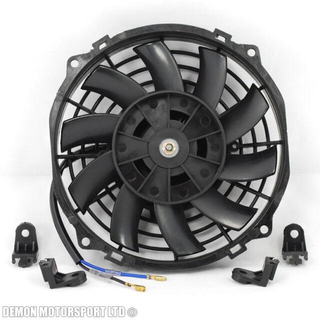 "7"" Fan Universal Electric 12v Slimline Fan For Intercooler Radiator Oil Cooler"