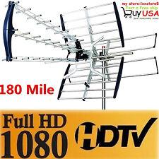 180 Mile HDTV 1080p Outdoor HD TV Antenna Digital UHF/VHF FM Radio New