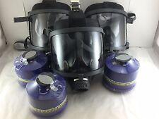 Scott/SEA Domestic Prep [3pak Gas Masks] w/3x Mestel NBC/CBRN Filters Exp:5/2022
