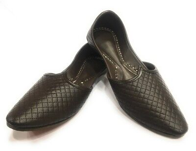 US Mens Khussa Shoes Punjabi Jutti Ethnic Mojari Sherwani Shoes Slippers DD584
