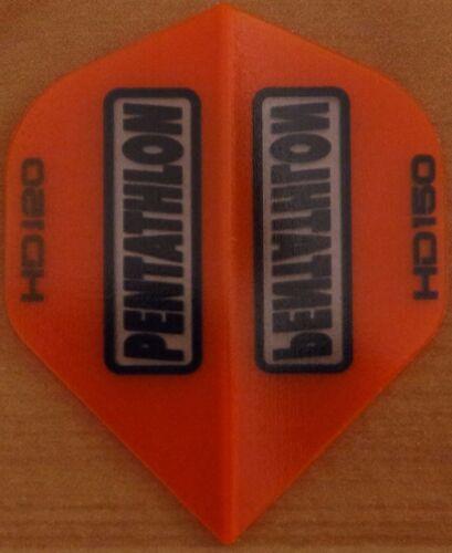 10 Sets Orange Pentathlon HD 150 Micron Dart Flights.
