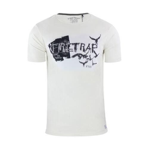 gráfico Camiseta de algodón para blanca de Camiseta grande con redondo Keswick cuello hombre manga corta Camiseta O7nUq