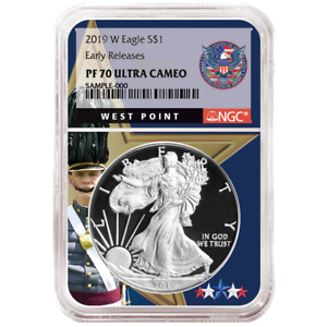 2019-W Proof $1 American Silver Eagle NGC PF70UC ER West Point Core