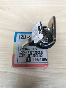 KAWASAKI-KDX-KLX-SERRURE-BOITE-OUTILS-LOCK-ASSY-TOOL-BOX-REF-27016-5177