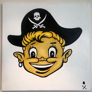 """Treasure Paintings JR Bissell: """"Loot Boy"""" Pirate Artist Gimme the Loot Boyz Coin"""