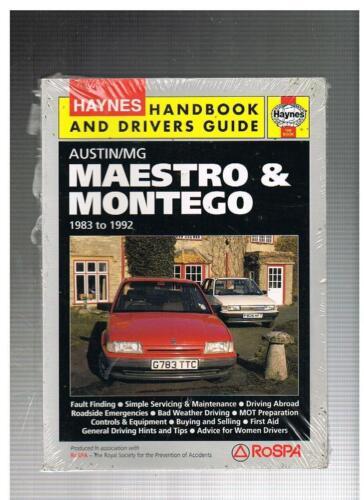NUOVO Haynes manuale e driver Guide /& MAESTRO MONTEGO Inc mg 1983 al 1992 18-19