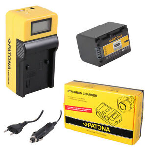 Batteria Patona + caricabatteria Synchron LCD USB per Sony HDR-CX500E,HDR-CX500V