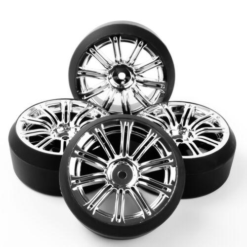 1//10 On-Road Racing Car Drift Tire Wheel Rims 12mm Hex For HPI 3MC+PP0370