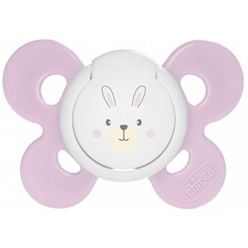 Succhietto Chicco Physio Comfort Silicone Coniglietto Rosa Bianco