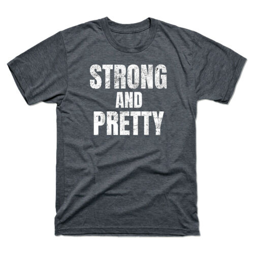 Strong and Pretty Funny Strongman Workout Vintage Tee Men/'s Retro Shirts T-Shirt