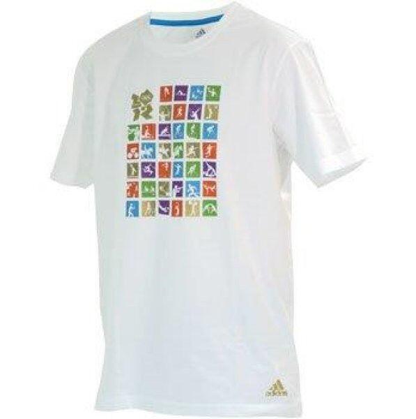 3 x Adidas T-shirt blanc taille S avec neuf avec S etiquette + facture avec TVA. 5278a8