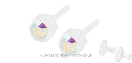 a7e75d1f6 Blomdahl Rainbow Medical Plastic Earrings. for sale online | eBay