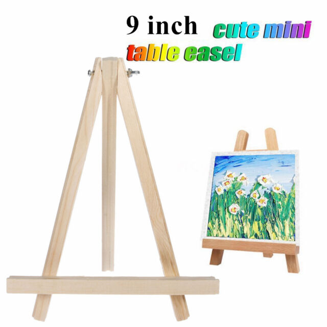 Mini Wooden Tripod Easel Display Painting Stand Card Canvas Holder Wedding Party