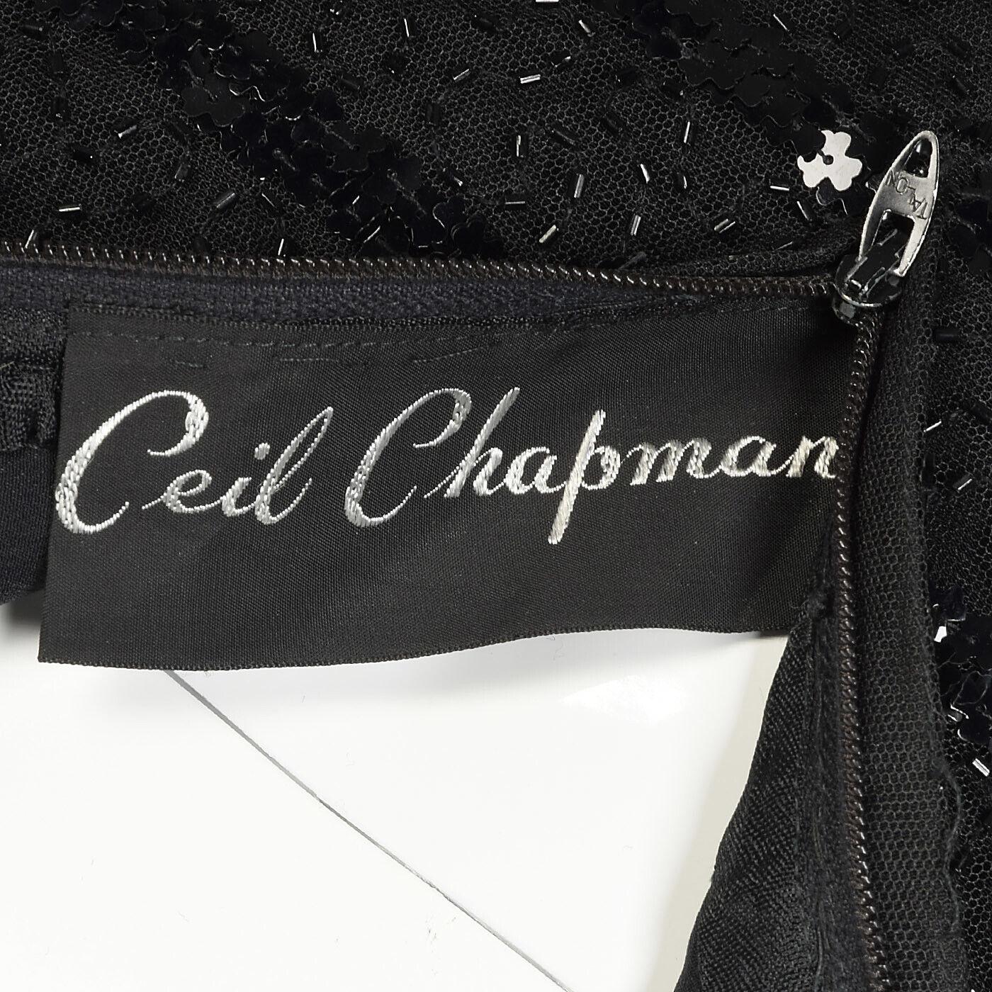 XXS Vintage 1960s 60s Ceil Chapman Long Sleeve Se… - image 5