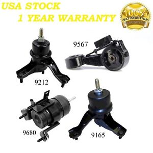 9R3209 4pc Motor Mounts Fit 2004-2006 Toyota Sienna FWD 3.3L Engine Trans