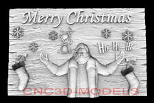 3d Model Stl For Cnc Happy New Year Aspire Merry Christmas Santa Claus D749