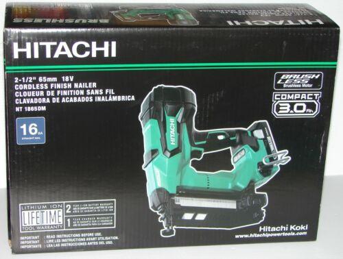 "Hitachi NT1865DM 2-1//2/"" 18 V Brushless Lithium Ion 16Ga Straight Finition Cloueur"