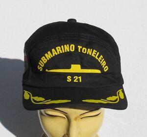 aab95fe4ea2 Image is loading Brazil-Navy-Base-Cap-bordmutze-by-the-Submarine-