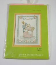 Permin of Copenhagen Rabbit Family 12-2003 Cross Stitch Danish Needlework Kit