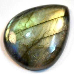 Cts-43-95-Natural-Labradorite-Multi-Fire-Cabochon-Pear-Cab-Loose-Gemstone
