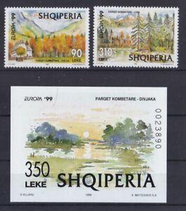 Albanien-postfrisch-MiNr-2690-2691-und-Block-118-Natur-und-Nationalpark