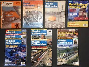 Lot-of-11-Model-Railroader-Magazine-1960-1961-1999-2001-Model-Railroad-Planning