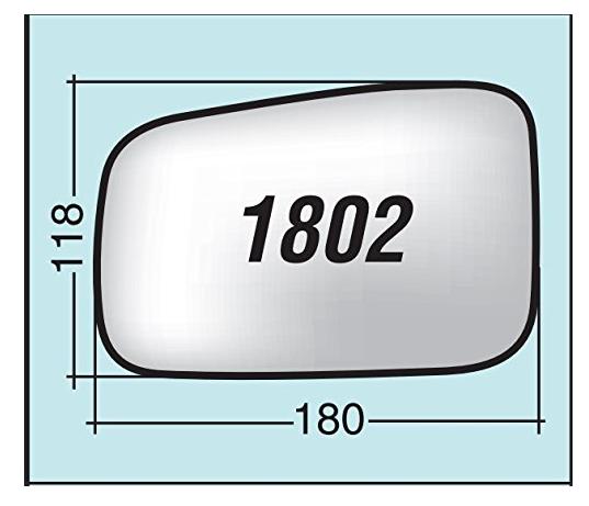 Vetro specchietto Kia Sorento destro senza piattello 1802D