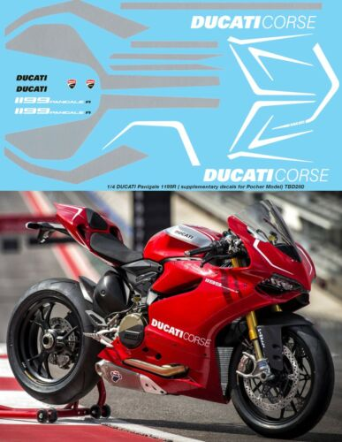 14 Ducati Panigale 1199 R Supplementary Decals for POCHER Decal TBD280