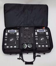 GEMINI CDJ - 01 W/ MX-01 DJ MIXER UNIT IN SOFT CASE