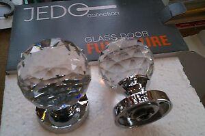 Quality-Crystal-Cut-Glass-Mortice-Door-Knob-Chrome-7-x-sets