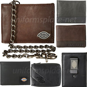 Dickies-Wallet-Mens-Bifold-or-Trifold-Leather-Wallets-Brown-Black