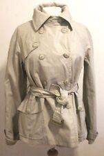 Womens Mac Coat Jacket BNWT Size 14 LOUIS CHARLES Cream Linen Cotton