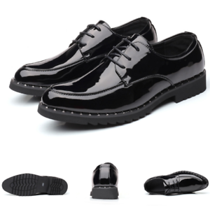 Details about  /Mens Business Leisure Leather Shoes Pointy Toe Work Oxfords Shiny Wedding Party