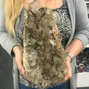 Mother-Nature-CRYSTAL-QUARTZ-with-EPIDOTE-MINERAL-6-7-Kgs-14-8-Lbs