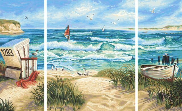 Paint by Numbers Schipper Sommerfrische Beach Triptych 50x80cm 609260595
