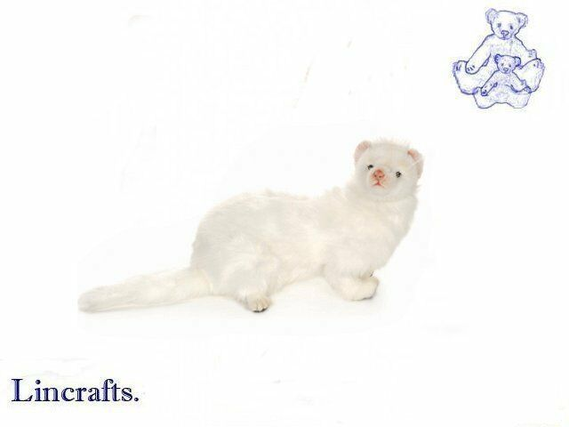 Hansa White Ferret 4557 Plush Soft Toy Sold by Lincrafts Established 1993