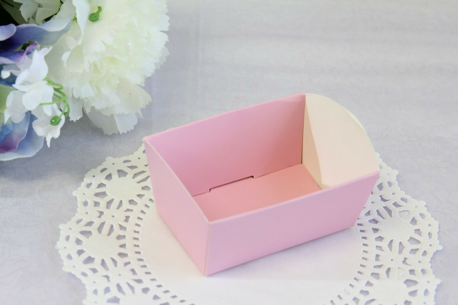 10x Mini Paper Candy Cookie Nut Trays Holders Cello Bag Base Party ...