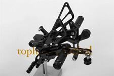 For Yamaha R6 R600 2006-2015 CNC Black Foot pegs Rearsets Rear Set Shift Brake