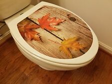 Brand New Toilet Seat Lid Cover Decal Sticker – Maple Leaves - Free Shipping !!!