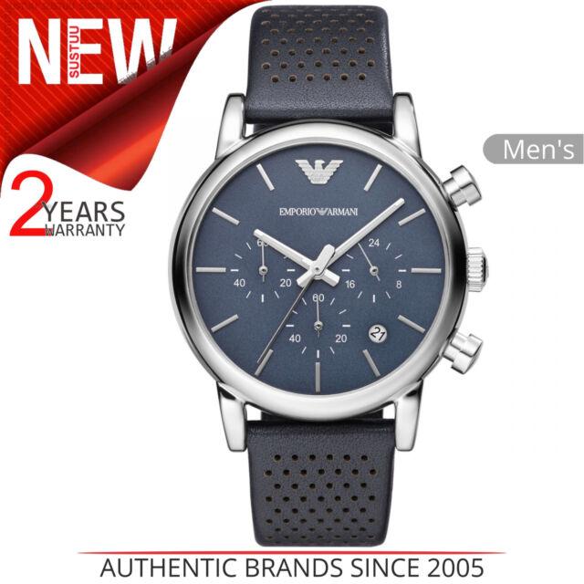 e78ae22aabf5 Emporio Armani Clásico para Hombre Reloj │ Cronógrafo Esfera Azul │ Azul