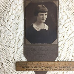 Antique Photo Young Girl Teenager Woman Christmas 1923 Ella Franklin Chico Ca